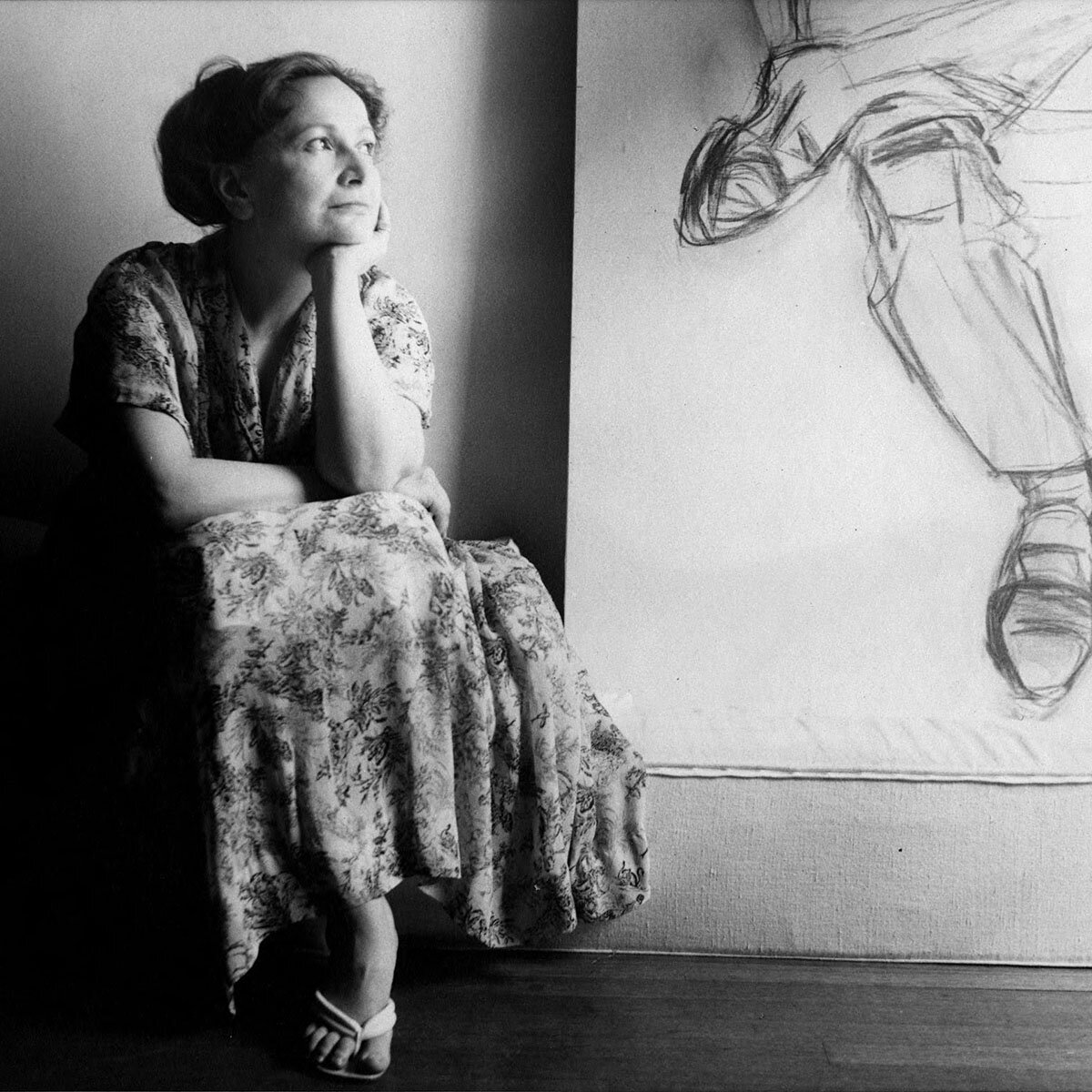 Portrait of Hedda Sterne by the Waintrob Brothers, c. 1960