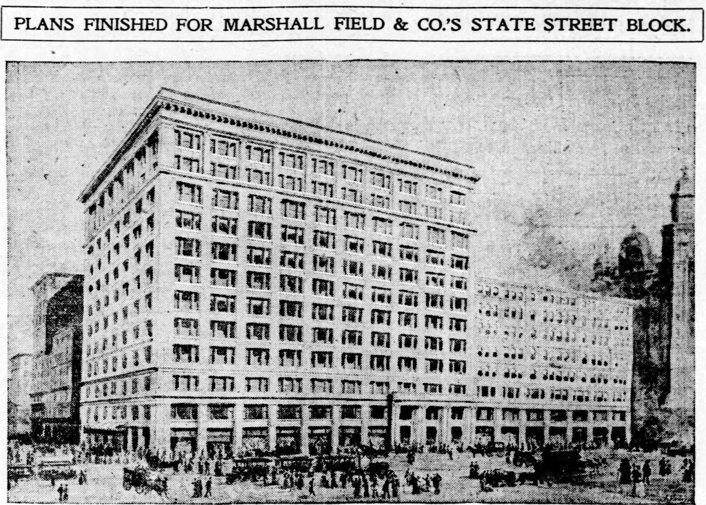 This image has an empty alt attribute; its file name is chicagotribune10march1901marshallfieldbuilding.jpg